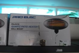 (1106) Pro Elec quartz patio heater