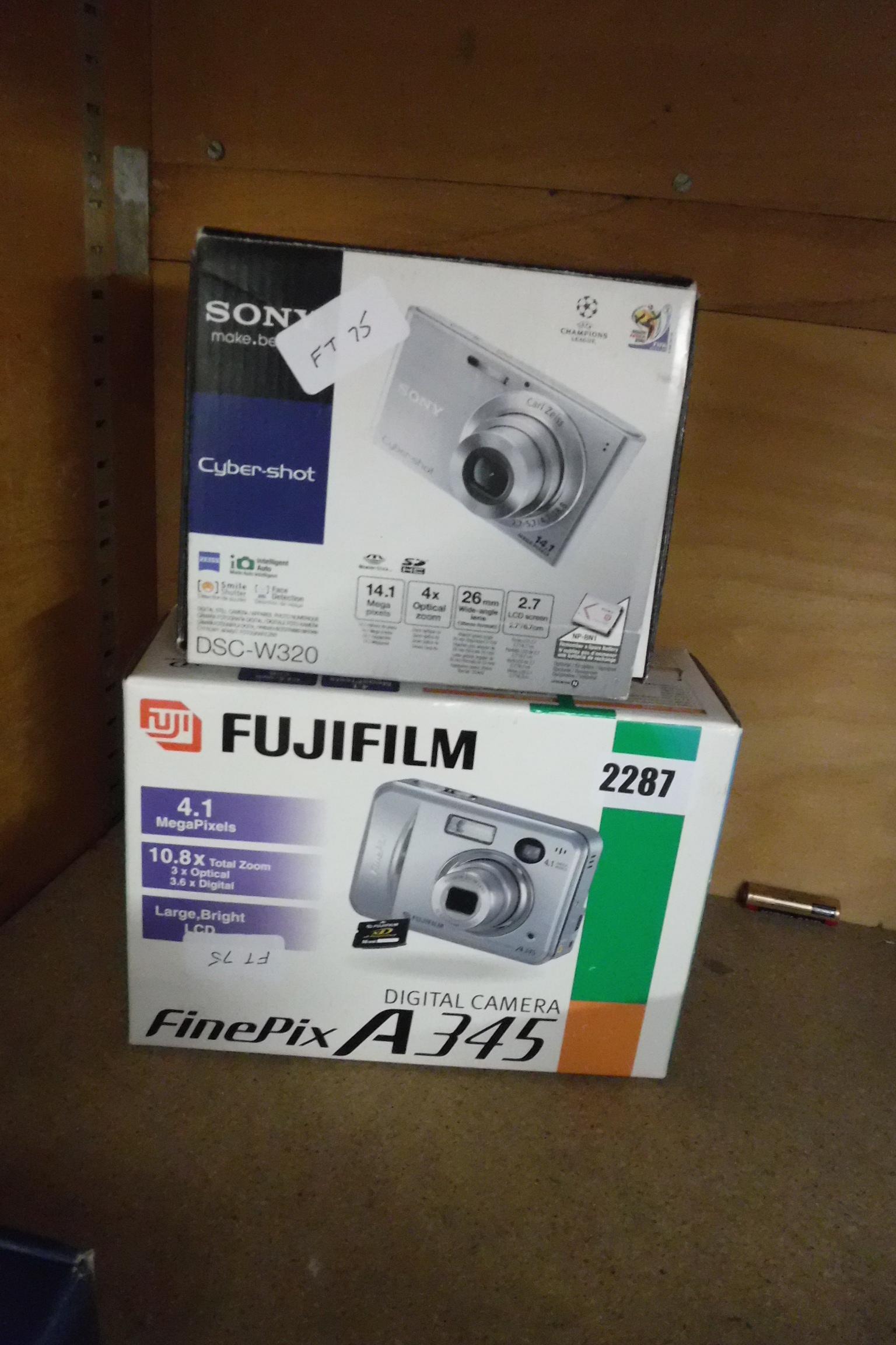 Sony Cybershot and Fuji Film compact camera