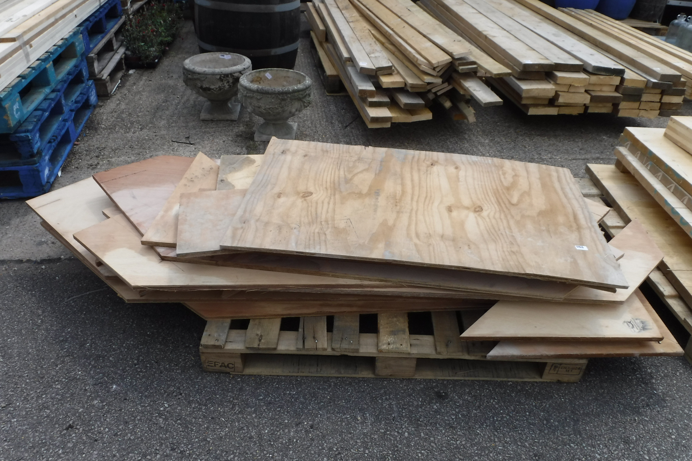 Pallet of assorted cut ply