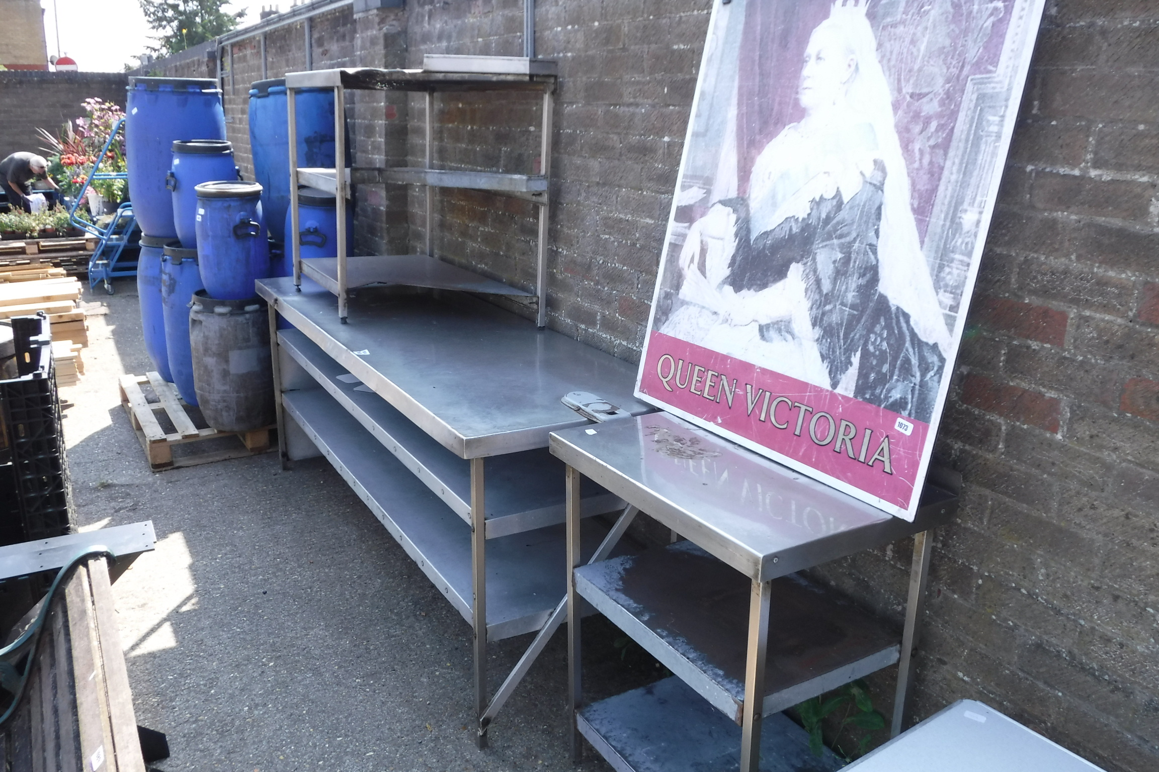 (1153) Selection of aluminium work tops and stands - Image 2 of 2
