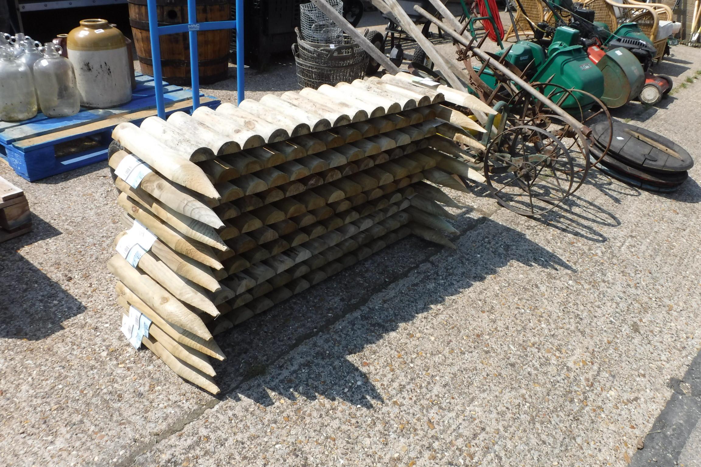 10 pieces of log edging