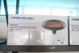 (1105) Pro Elec quartz patio heater