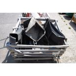 (1195) Selection of lawn mower parts and bags