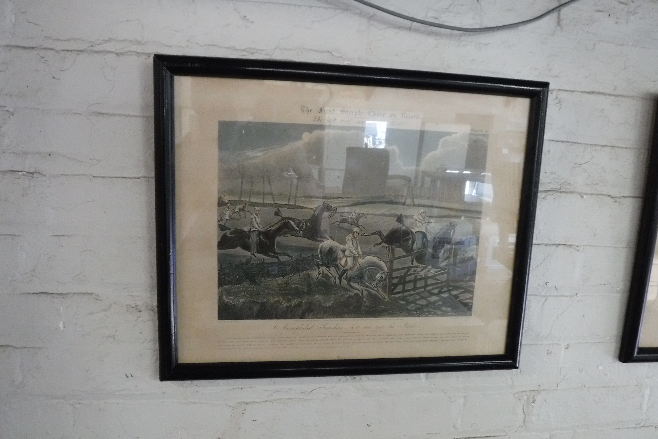 (2132) Set of 3 framed and glazed engravings of First Steeple Chase - Image 2 of 2