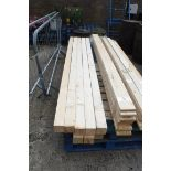 10 lengths of 3x3 timber