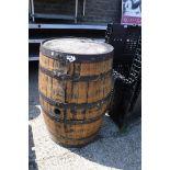 (1194) Large oak barrel