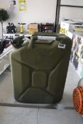 10 gallon green petrol tank