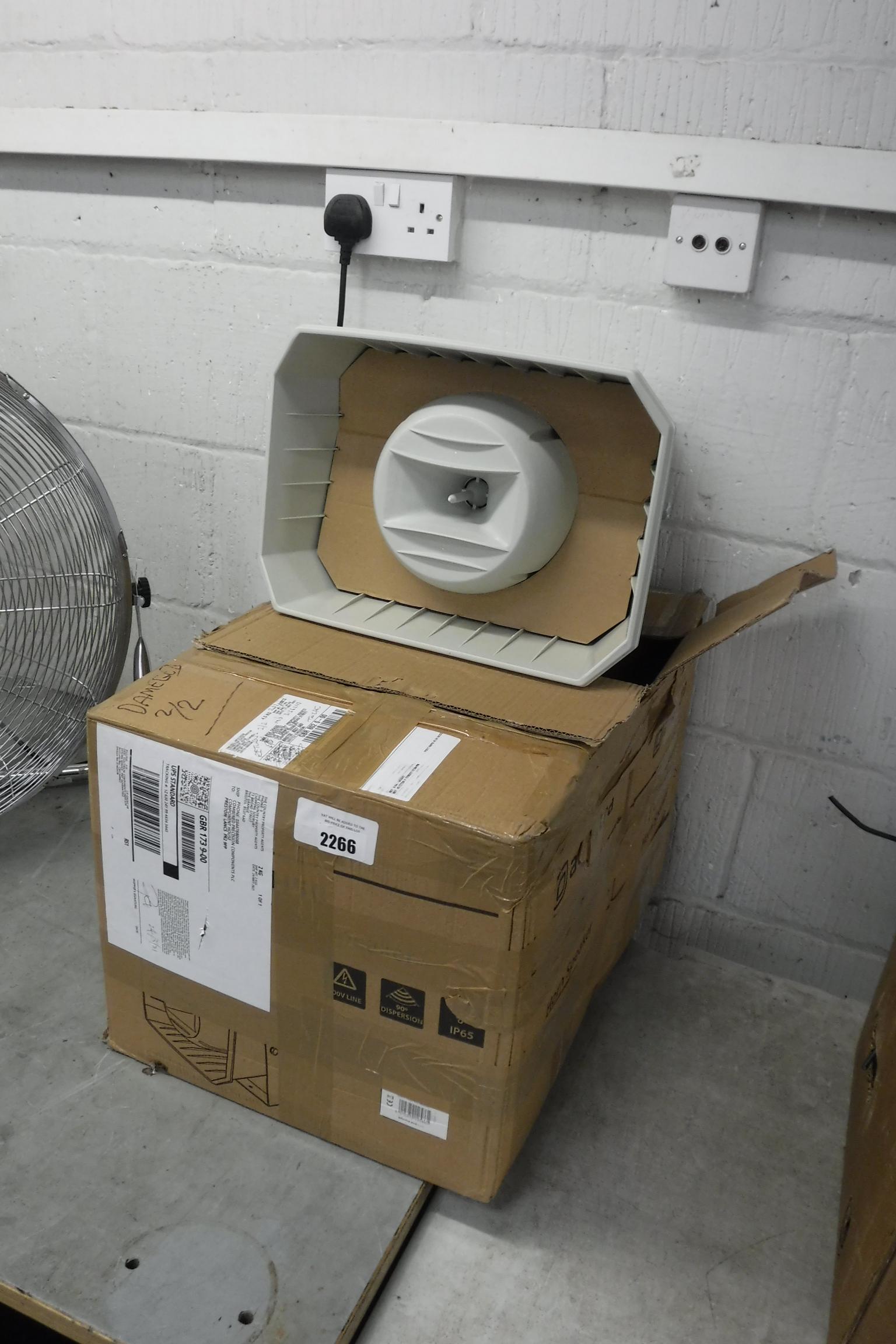 2 boxed Adstra FR1150 full range horn speakers