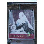 Queen Victoria pub sign