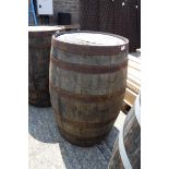 Large oak barrel
