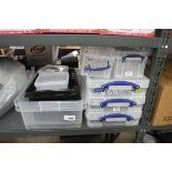 Small quantity of plastic storage crates