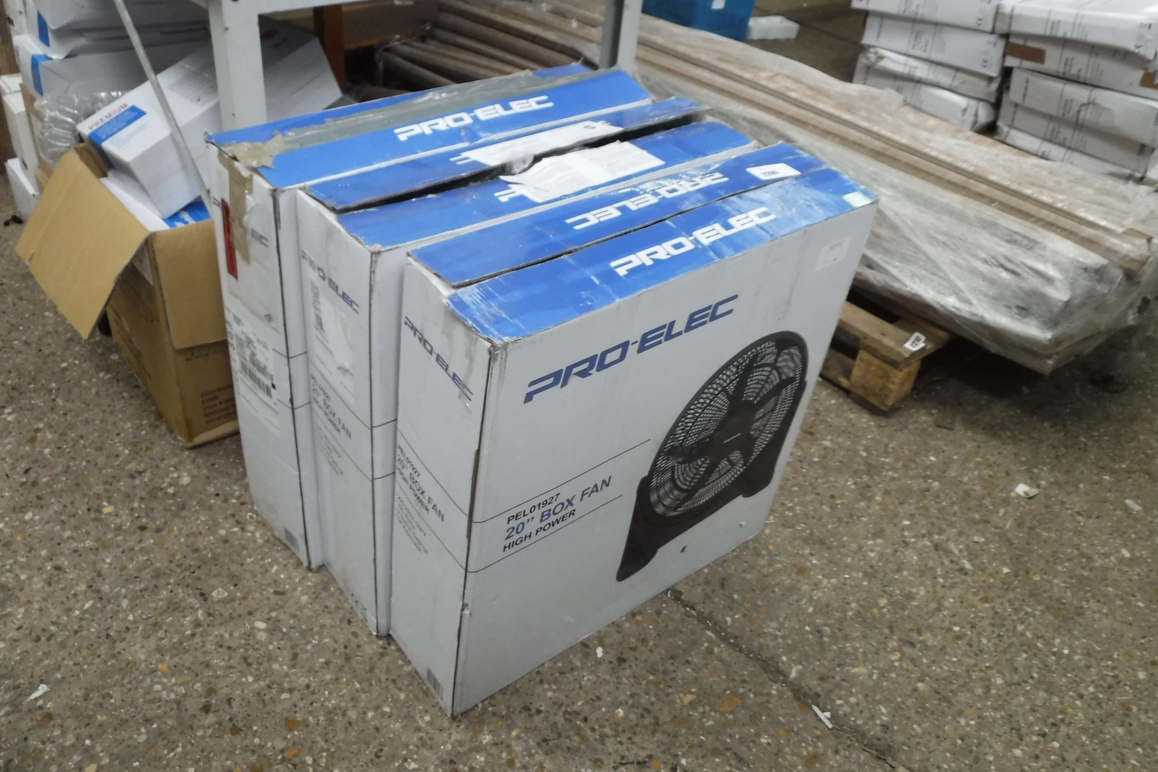 3 boxed 20'' box fans