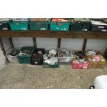 Under bay of various ceramics and household goods