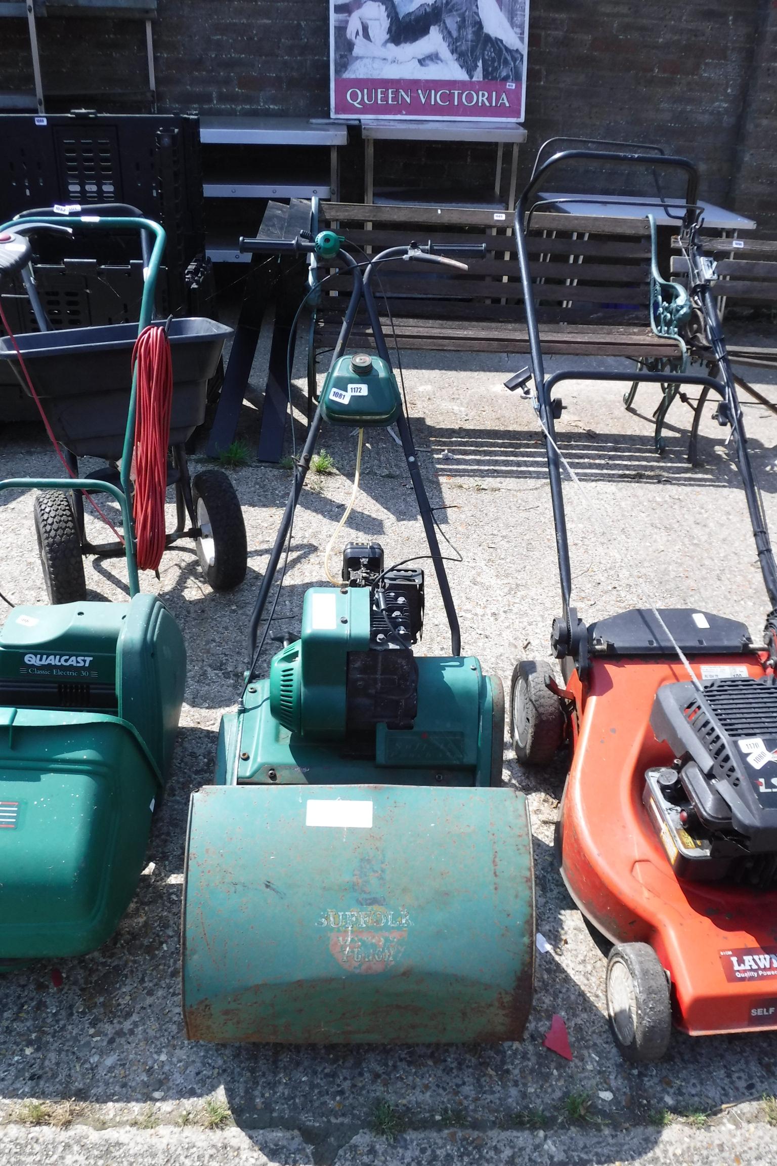 (1172) Suffolk Punch petrol lawn mower