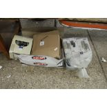 Box of various lighting and other electrical goods