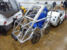 DryCycle early prototype electric assist pedal cycle with motor, battery, and charger