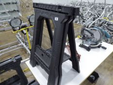 Pair of Stanley 365kg capacity folding trestles