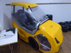 DryCycle pre-production model electric assist pedal cycle in yellow (unfinished)