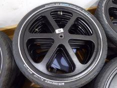 Set of 4 Samagaga 6-spoke 20'' wheels with Schwalbe Marathon Plus tyres and inner tubes