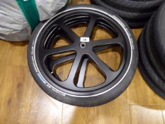 Set of 2 Samagaga 6-spoke 20'' wheels with Schwalbe Marathon Plus tyres and inner tubes