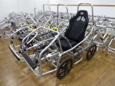 Incomplete DryCycle electric assist pedal cycle aluminium frame, wheels, tyres, seat, and various