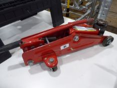 Small red trolley jack
