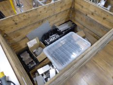 2 pallet boxes containing mainly aluminium parts and raw metal materials