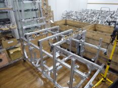DryCycle aluminium frame engineering jig with additional jig, mounted on board, and 3 shelves of