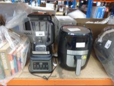 Unboxed Gourmia digital air fryer and Ninja blender