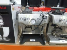 (71) Unboxed Sage Barista Express coffee machine, missing drip tray and top of grinder lid (no