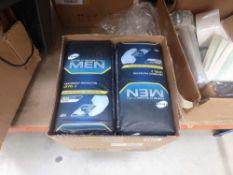 Box of mens absorbent protectors