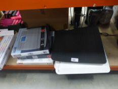 Split bath mats, boxed scales etc.