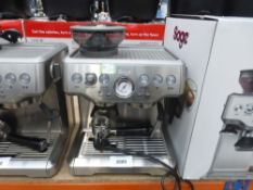 Unboxed Sage barista Express coffee machine with spoon