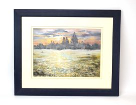 Sylvia R. Ditch (20th/21st century), 'Venice 3', signed, coloured pastels, 25.5 x 35.
