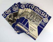 Chelsea Football Club: Approximately one hundred and thirty official home programmes dating from