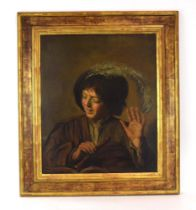 19th century, Continental School, A study of a young musician, unsigned, oil on canvas,