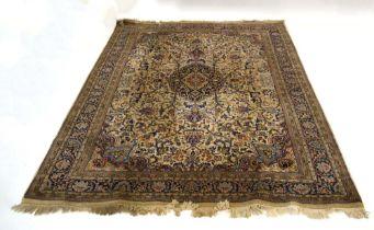 An Indian woolen carpet,