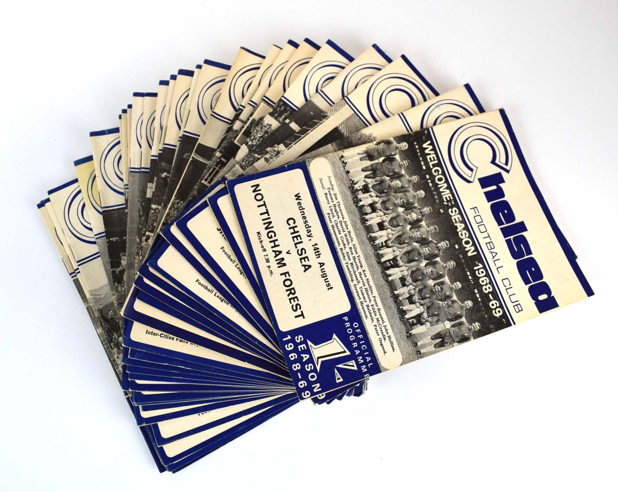 Chelsea Football Club: Approximately one hundred and thirty official home programmes dating from - Image 4 of 10