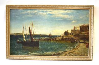 Harry Isaac Welch (late 19th/early 20th century), Sailing boats on the coast, signed and dated 1881,
