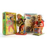 Two battery operated toys comprising: Brave Eagle and Rock 'N Roll Monkey,