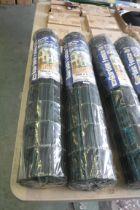 2 rolls of garden fencing, 10mx0.9m