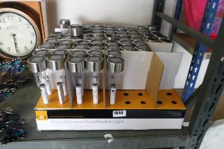 Large quantity of solar stainless steel marker lights