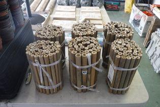 6 rolls of bamboo garden edging