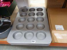 6 large metal muffin baking trays