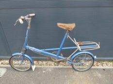 Vintage blue Moulton Standard bike