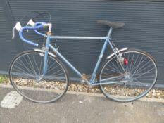 Vintage blue racing bike