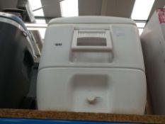 Large white cool box