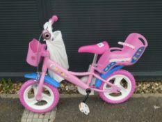 Peppa Pig pink child's bike