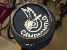 2 carbon fibre Campagnolo bagged wheels