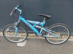 Ammaco blue childs mountain bike